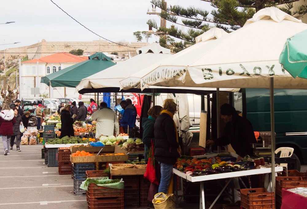 Saturday's Farmers Market in Rethymno